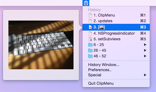 Popover preview image